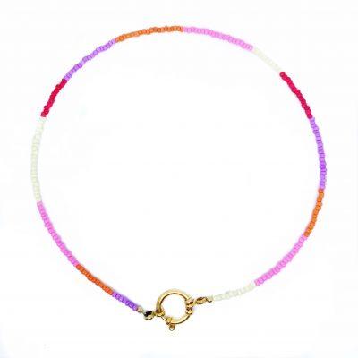 Rainbow ketting met gouden slotje